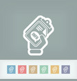 info document icon vector image