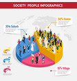 infographic society isometric background vector image vector image