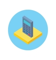 isometric calculator icon vector image vector image