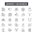 jewerly business line icons for web and mobile vector image