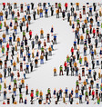 large group people in number 2 two form vector image vector image