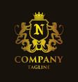 luxury letter n logo vector image