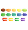 macarons icons set cartoon style vector image
