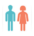 man and woman icons vector image