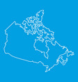 map of canada icon outline style vector image vector image