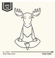 Meditative Animals series - moose vector image vector image