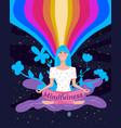 mindfullness yoga meditation woman sit vector image vector image