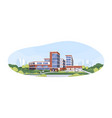 modern building exterior municipal hospital vector image