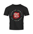modern craft beer drink logo sign for bar vector image