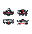 modern professional football logo set for sport vector image