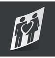 Monochrome love couple sticker vector image vector image