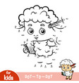 numbers game education game for children sheep vector image vector image