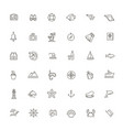 outline web icon set - journey vector image vector image