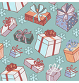 pattern gifts snow vector image vector image