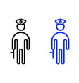 policeman outline icon vector image vector image