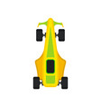 racing car speeding motor racing bolid top view vector image