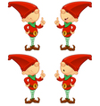 Red Elf Having An Idea vector image vector image