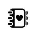 romantic love symbol vector image vector image