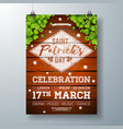 saint patricks day celebration party flyer vector image vector image