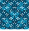 Seamless blue christmas pattern vector image vector image