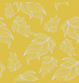 seamless floral background pattern in yellow and vector image
