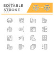 set line icons insulation vector image vector image