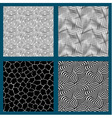 Set of 4 seamless black and white textures vector image vector image