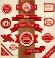 Set of beer labels vector image vector image