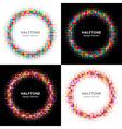 Set of Colorful Bright Halftone Circles logo vector image vector image