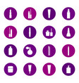 set of cosmetics icons on color background vector image vector image