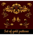 Set of golden volume patterns vector image vector image