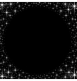 Shiny star border frame vector image vector image