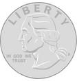 silver liberty coin vector image vector image