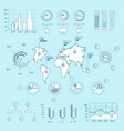 social media blue infographic elements vector image