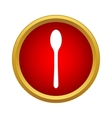 Spoon icon in simple style vector image vector image