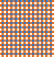 Table cloth seamless pattern orange and blue vector image vector image