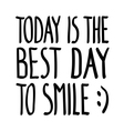 Today good day smile doodle vector image vector image