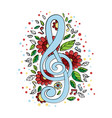 treble clef musical concert symbol vector image vector image