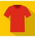 Tshirt icon flat style