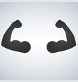 two muscular arms silhouette icon