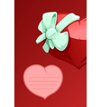 Valentine heart with a bow-knot vector image vector image