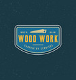vintage carpentry logo retro styled wood works vector image vector image