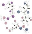 vintage color floral vector image