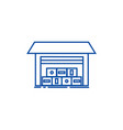 warehouse line icon concept vector image