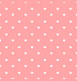 white hearts on pink background vector image vector image
