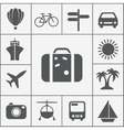 silhouette travel icon set vector image