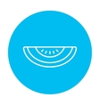 Watermelon line icon vector image