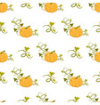 ripe pumpkin with curly stem seamless pattern vector image
