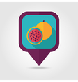 Passionfruit flat pin map icon Tropical fruit vector image