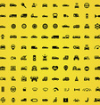 100 car icons vector image vector image